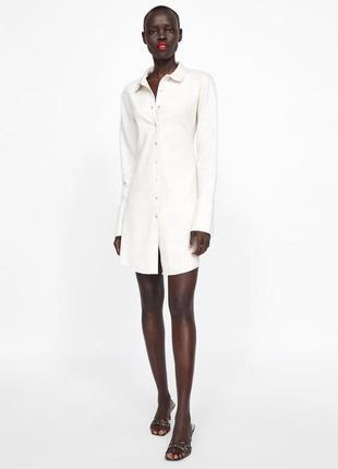 Новое платье-рубашка zara