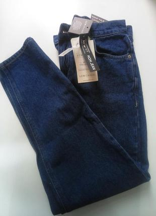 Базовые джинсы синие мом mom fit высокая талия
