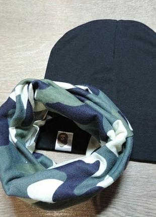 Комплект шапочка и хомут