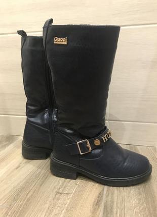 Зимові довгі чобітки