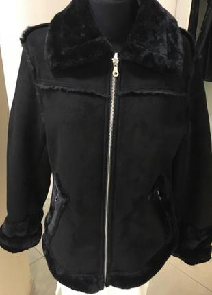 Крутая дубленка из экозамша куртка , дубляж шубка