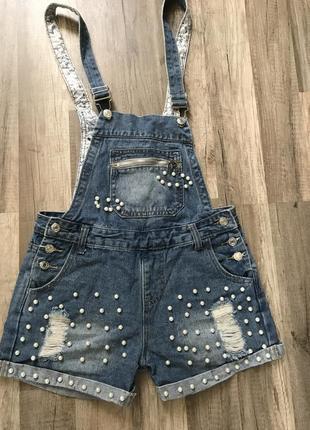Комбинезон, джинсовый комбинезон, летний комбинезон