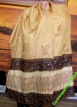 Распродажа! красивый шарф adriana bruni италия 190х48см