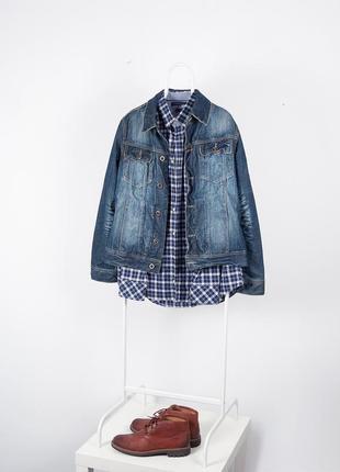 Красивая джинсовая куртка из плотного коттона  urban surface