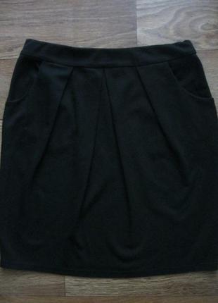 Чёрная короткая юбка next