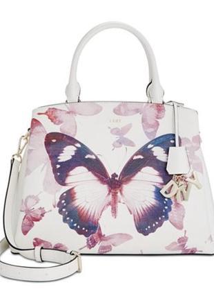 Кожаная сумка donna karan