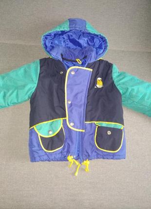 Теплая зимняя куртка на мальчика 3-4года