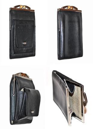 Кожаный кошелек портсигар petek унисекс
