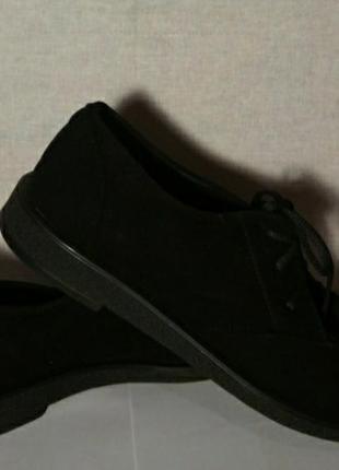 Оксфорды, туфли замшевые