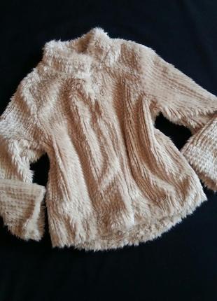 Короткая шубка/меховая куртка mayoral (испания) на 7-8 лет (размер 128)