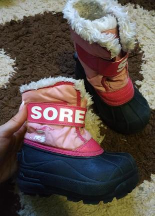 Резиновые теплые сапоги ботинки sorel, зимние ботинки