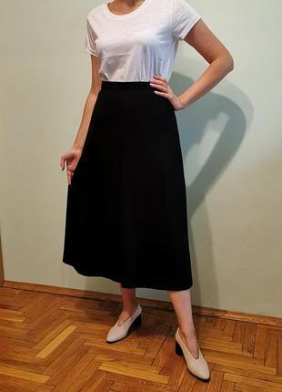 Юбка миди в стиле ретро винтаж шерстяная