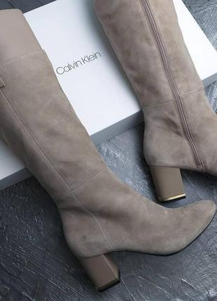 Calvin klein оригинал замшевые сапоги на небольшом каблуке бренд из сша