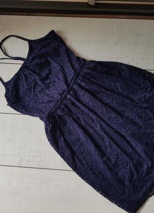 Шикарное красивое платье гипюр h&m отличное состояние