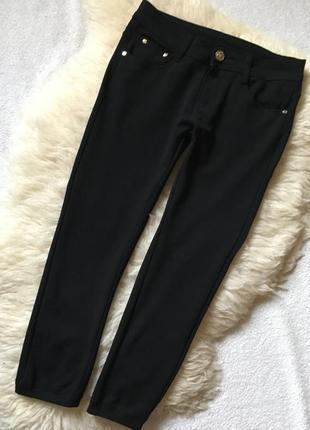 Крутые укороченные стрейчевые брюки style jeans