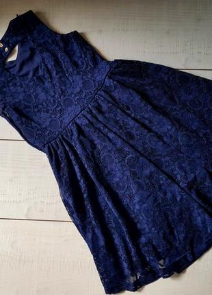 Красивое платье гипюр 7-8 лет