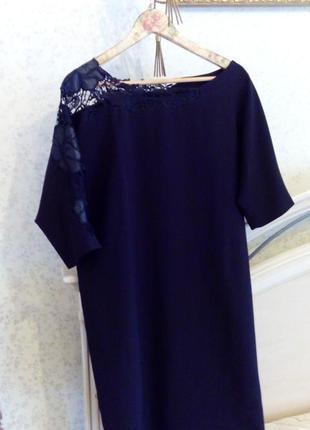 Вечернее платье с ажурным рукавом