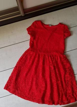 Красивое нарядное платье гипюр 7 лет