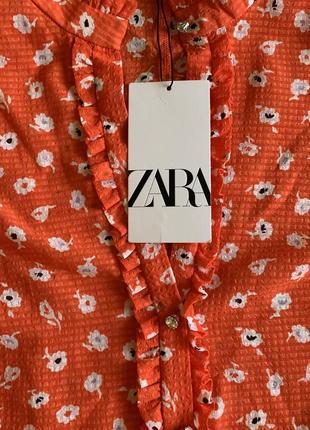 Алое платье с кристаллами zara