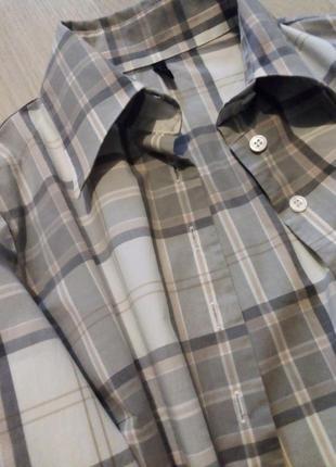 Брендовая рубашка клетка united colors of benetton