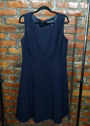 Платье из костюмной ткани а-силуэта с отрезной талией marks & spencer