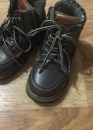 Ботинки для мальчика демисезонные серые