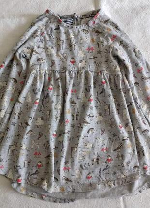 Трикотажное платье на девочку next