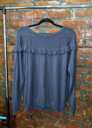 Пуловер джемпер свитер с рюшами на плечах next