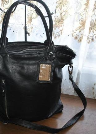 Большая кожаная сумочка бренда cowboysbag