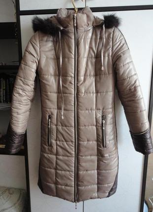 Очень теплое пальто на холлофайбере