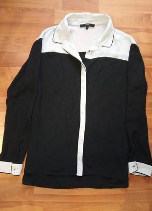 Блуза рубашка с длинными рукавами