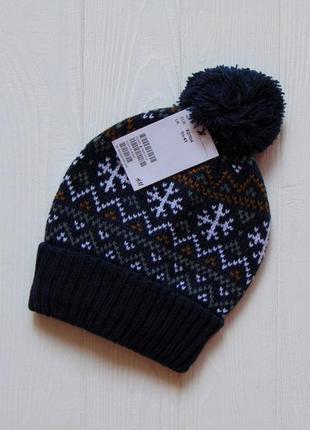 H&m. размер 1.5-4 года, объем головы указан 50-51 см. новая стильная шапка для мальчика
