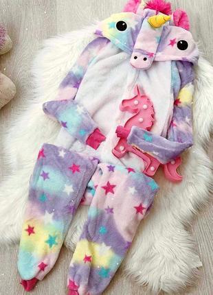 ❗наложенный платёж ❗ кигуруми пижама женская звёздный единорог