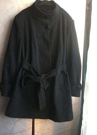 Батал! отличное пальто шерстяное пальто. размер 26/28