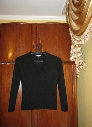 Свитер-рубашка ns.cashmere, 100% натуральный кашемир, размер xs/s