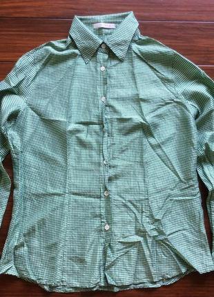 Шелковая дизайнерская рубашка от etro! p.-48 итал! оригинал!