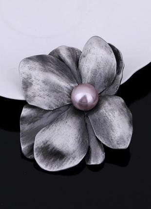 Шикарная брошь подвеска цветок магнолии ликвидация товара уценка
