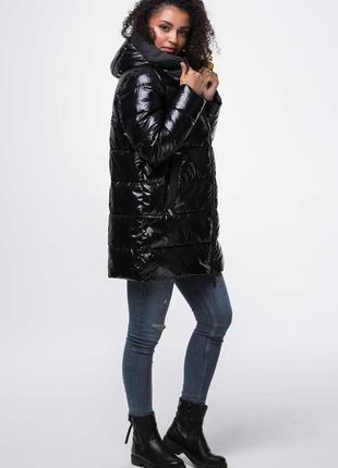 Женская черная куртка аnn gissy