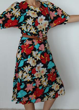 Винтажное платье миди mabelle с петельками под пояс