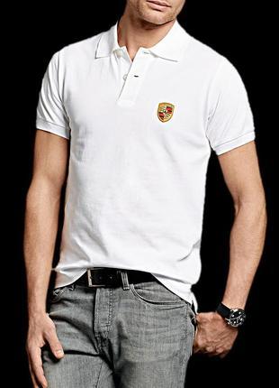 Поло/футболка porsche drivers selection white polo