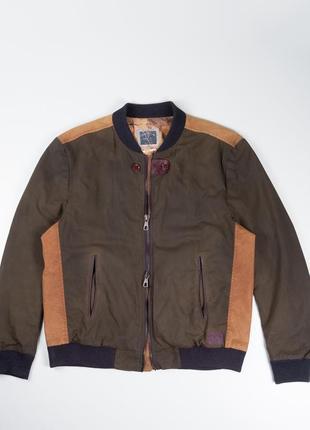 Красивая куртка бомбер из вощеного коттона river island