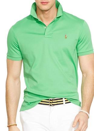 Поло/футболка  polo ralph lauren pima soft touch polo shirt