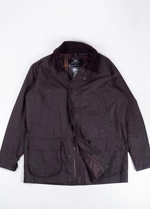 Куртка парка из вощеного коттона в стиле barbour