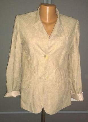 Жакет блейзер пиджак из льна h&m