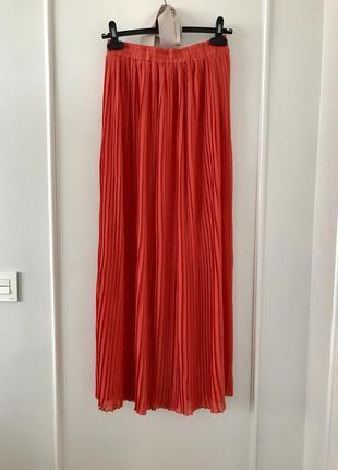 Шикарная плиссированная юбка макси. s/m/l.