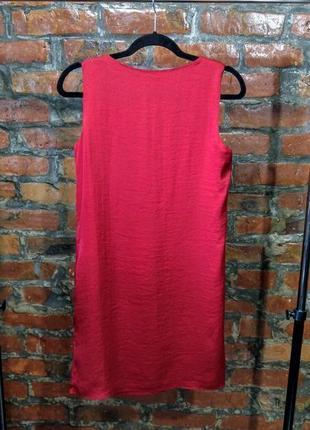 Платье с драпировкой из мокрого шелка h&m