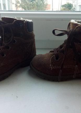 Ботинки на осень замша