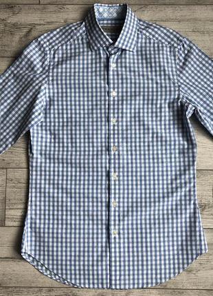 Сорочка\рубашка etro gingham paisley print shirt