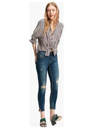 Стрейчевые джинсы скинни от stradivarius