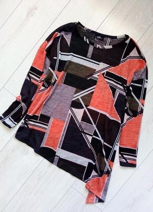 Ассиметричный комфортный пуловер